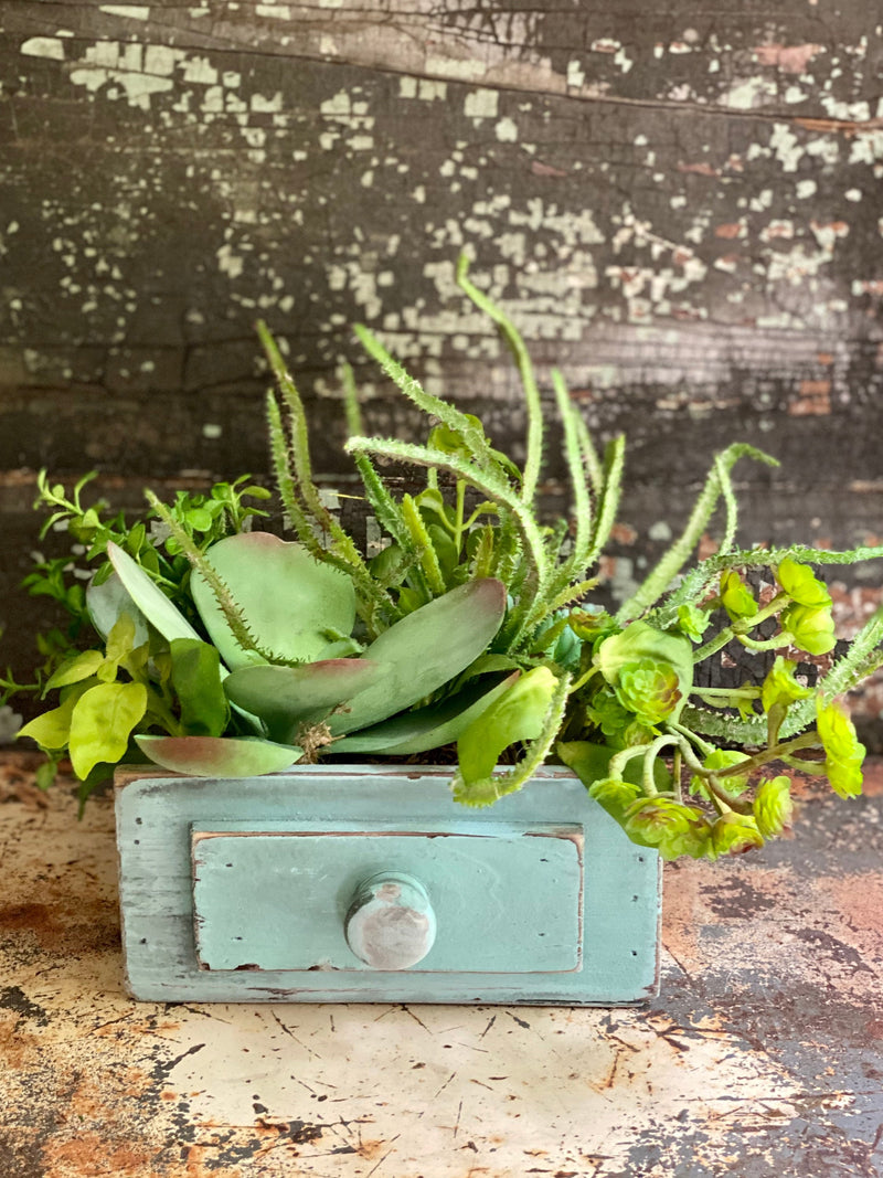 The Luna Succulent Centerpiece For Table & Countertops, Summer arrangement, year round centerpiece, farmhouse decor, shabby chic decor