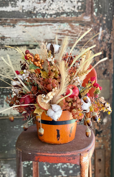 The Ida Farmhouse Pumpkin Centerpiece For Table, Fall arrangement, tabletop arrangement, Kitchen Centerpiece, Thanksgiving centerpiece
