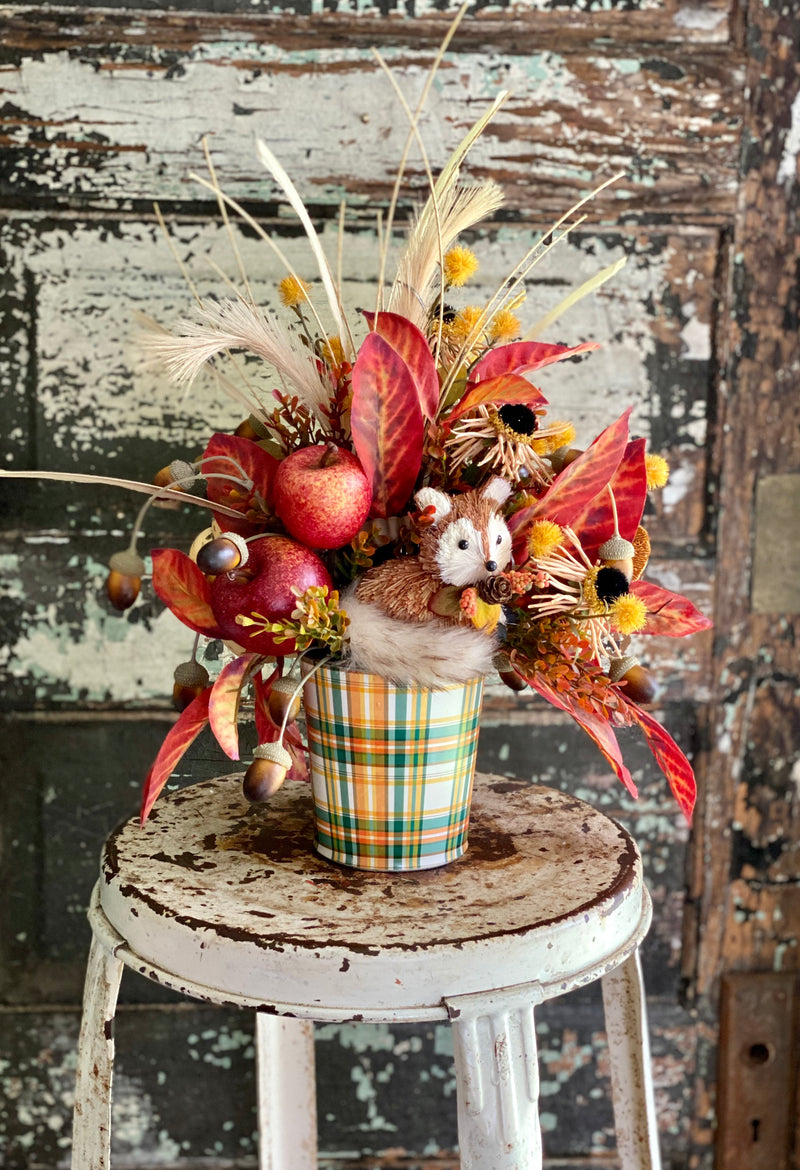 The Nala Orange & Yellow Fall Centerpiece For Table, Thanksgiving arrangement, Rustic arrangement, Autumn Decor