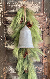 Galvanized Vintage Style Metal Star Bell~Farmhouse Christmas decor~JIngle Bells, Sleigh bells, cottage decor