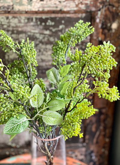 Artificial Seeded Greenery Spray, urn filler greenery, spring greenery, craft supply, wedding flower, realistic greenery