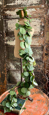 Artificial 4 Foot Eucalyptus Garland, Wreath making supply garland, silver dollar eucalyptus garland~French country garland, spring greenery