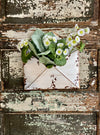 Vintage Style Antiqued White Metal Envelope Wal Pocket, Farmhouse wall decor, Envelope shaped hanging planter
