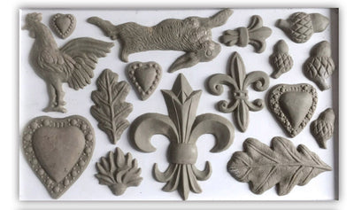 IOD Fleur De Lis Decor Mould, Casting mould for crafts, craft supply, soap mold, resin mold, French country mold, candy mold,