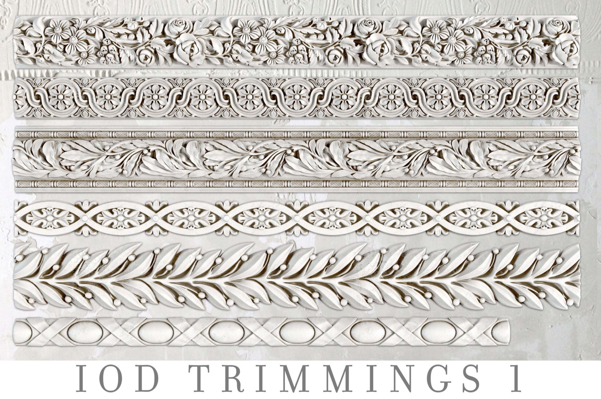IOD Trimmings 1 Decor Mould, Casting mould for crafts, craft supply, soap mold, resin mold, French country mold, candy mold,