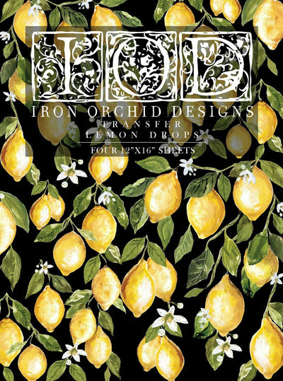 IOD Lemon Drops Rub On Transfer Sheet, Transfers for crafts, craft supply, Card embellishment, Farmhouse transfer designs