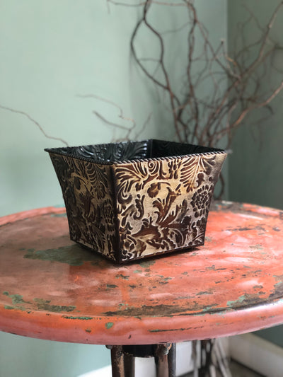 The Michaela Floral Scroll Container