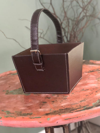 The Spencer Faux Leather Storage Tote