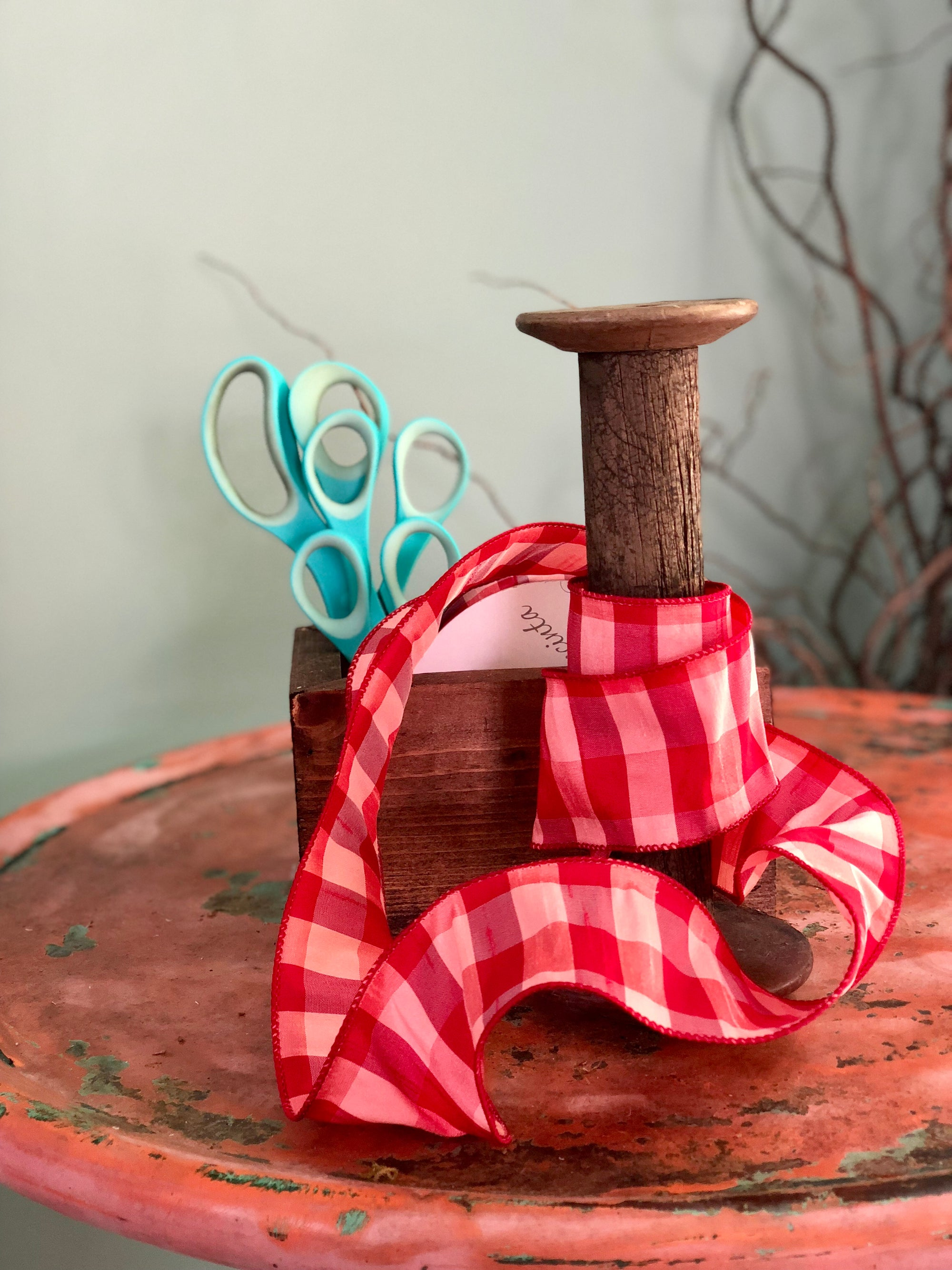 Red Brick Checkerboard Ribbon