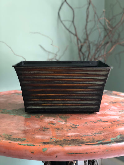 The Kenzie Ribbed Metal Container