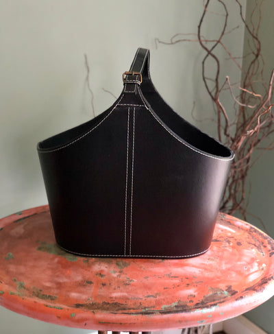 The Claiborne Faux Leather Tote Container