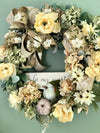 The Belle Cream & Green Farmhouse Wreath