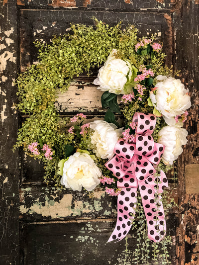 The Kinsley Peony Spring Valentine Wreath