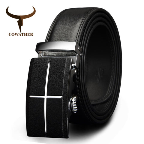 COWATHER mens belt  brand cow genuine leather belt