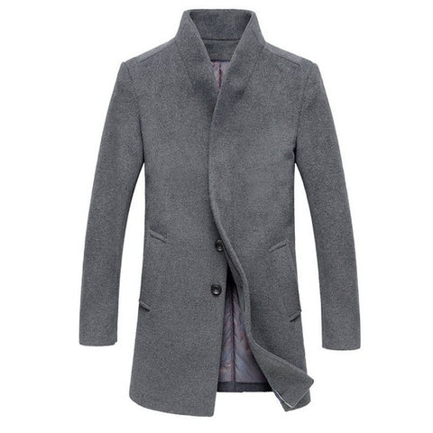 Classic Men's Jackets Outerwear Trench Woolen Coat