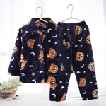 Kids Winter Pijama Sets Long Sleeve Coral fleece Warm Sleepwear Baby Nightwear