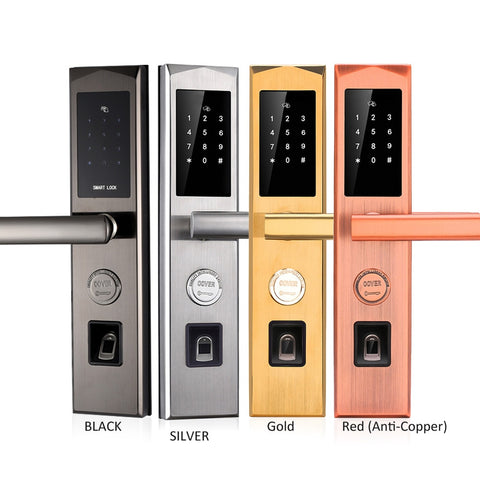 Biometric electronic fingerprint door lock