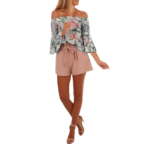 Summer 2019 floral print blouse