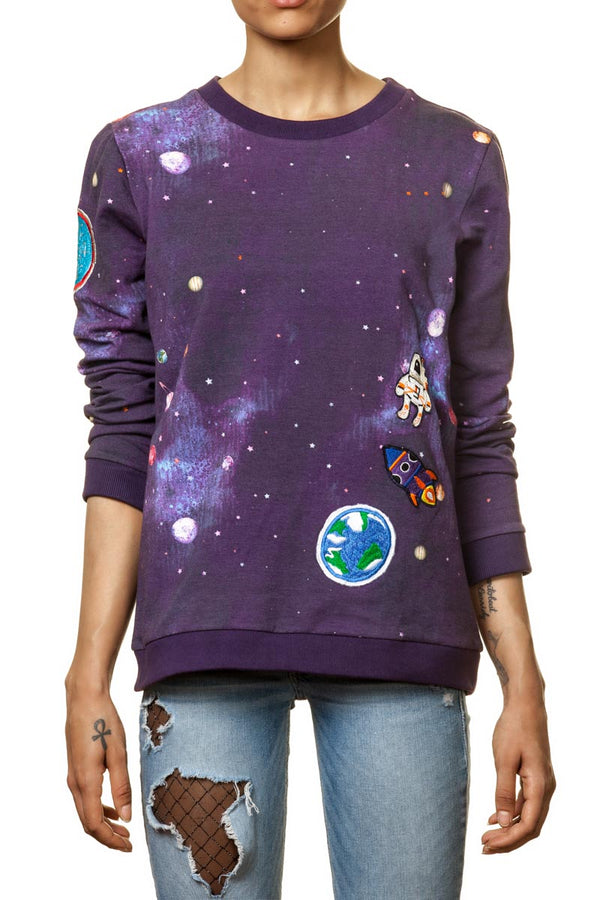 "Galaxysweater ""Zoe"" mit Patches"