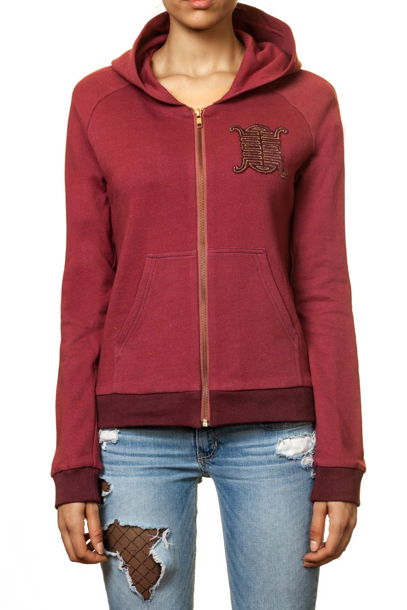 "Sweatjacke ""Sedina"" mit Bestickten Patches"