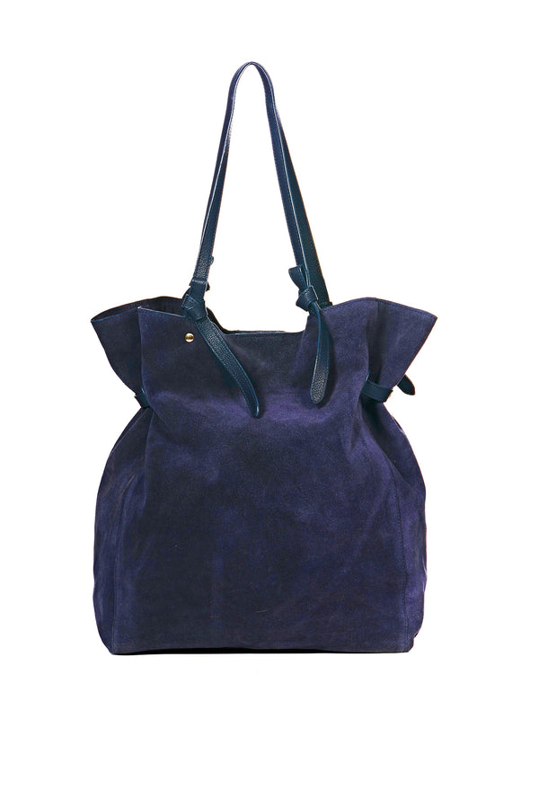 """Maren"" Veloursleder Shopper"