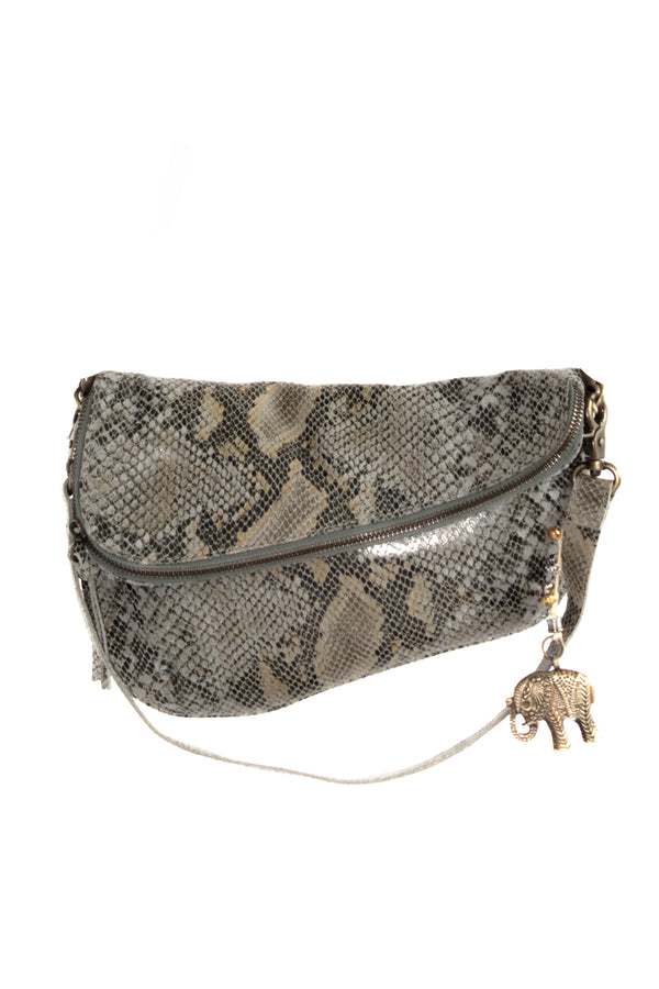 Snake-Saddlebag aus Leder