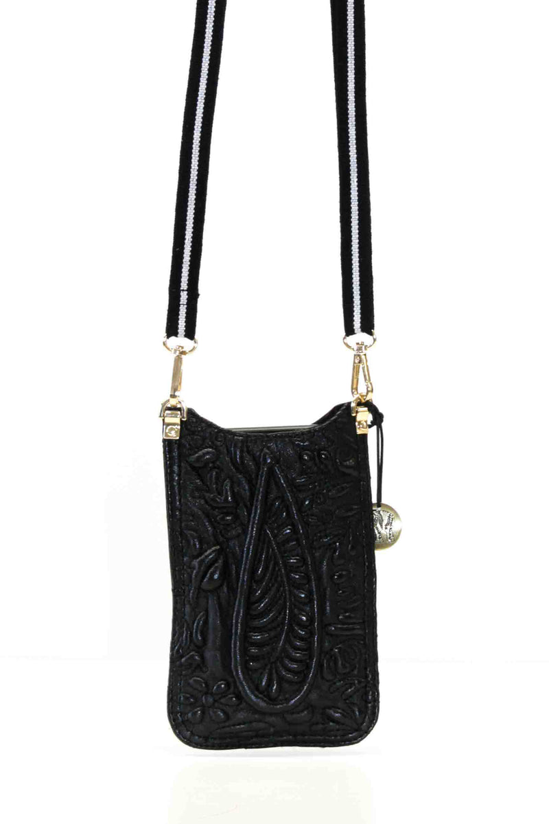 ANOKHI Mobilebag - Paisley Threadfilling