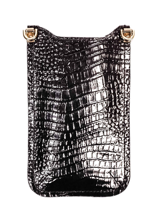ANOKHI Mobilebag - Croco black