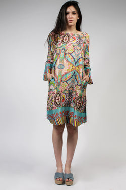 "Minikleid in ""Paisley-blue"""