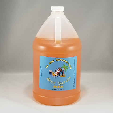 Mango Syrup 1 Gallon - 128 oz