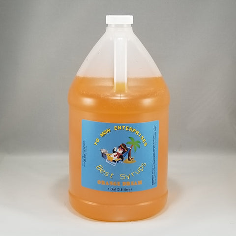 Orange Dream  Syrup 1 Gallon - 128 oz