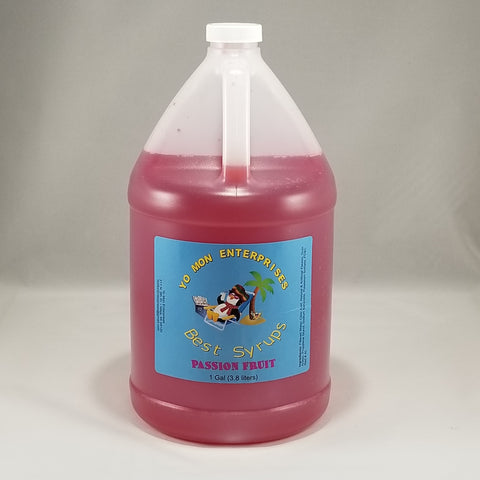 Passion Fruit Syrup 1 Gallon - 128 oz