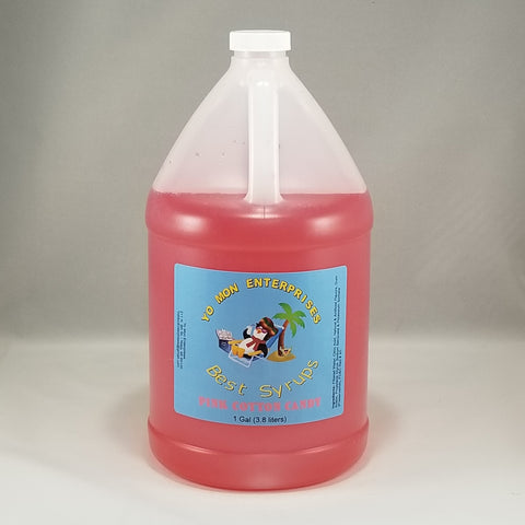 Pink Cotton Candy Syrup 1 Gallon - 128 oz