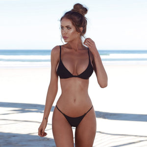 Low Cut Bikini Set