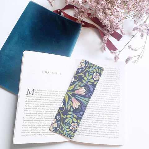 Bookmark, Fabric bookmark, Page marker, Book lover gift