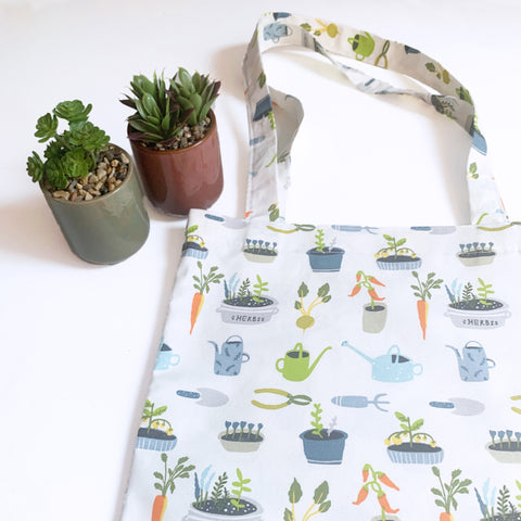 Simplicity tote bag *Limited* Green fingers fabric