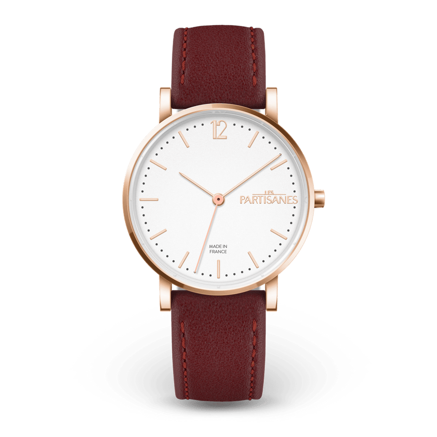 L'Audacieuse Or Rose - Les Partisanes - Montre femme & bijoux Made in France