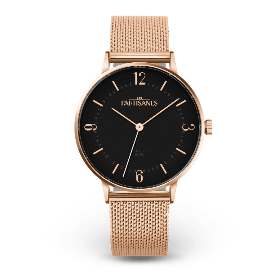 La Colette - Noir - Les Partisanes - Montre femme & bijoux Made in France