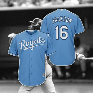 Bo Jackson Throwback Baseball Jersey