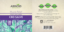 Load image into Gallery viewer, CBD Muscle Salve Violet Leaf & Basil 2oz Hemp Extract[150 mg]