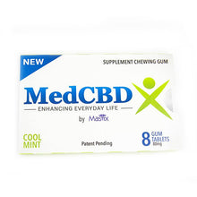 Load image into Gallery viewer, MedCBDX - CBD Gum 8 Pack (80mg CBD)
