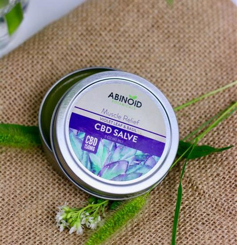 CBD Muscle Salve Violet Leaf & Basil 2oz Hemp Extract[150 mg]