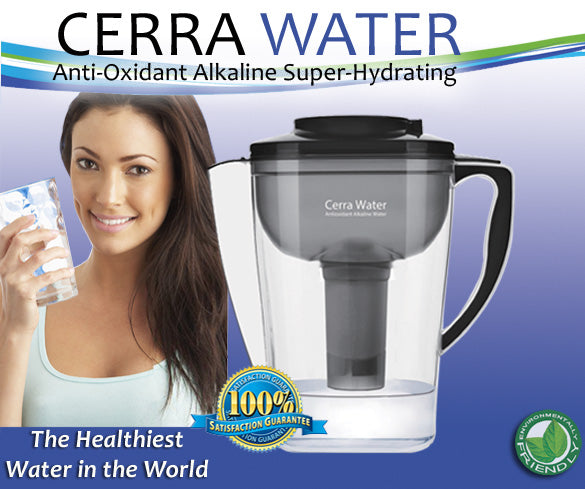 Cerra Water Anti-Oxidant, Alkaline Super Hydrating System (Purchase Via Affiliate Link Below ONLY)