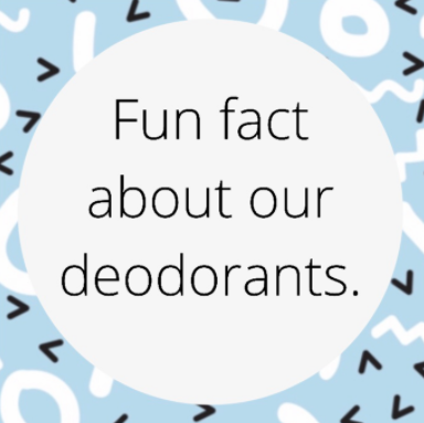 Fun fact about MEBEME all natural deodorants
