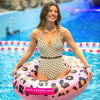 Inflatable Leopard Swim Ring 90 CM