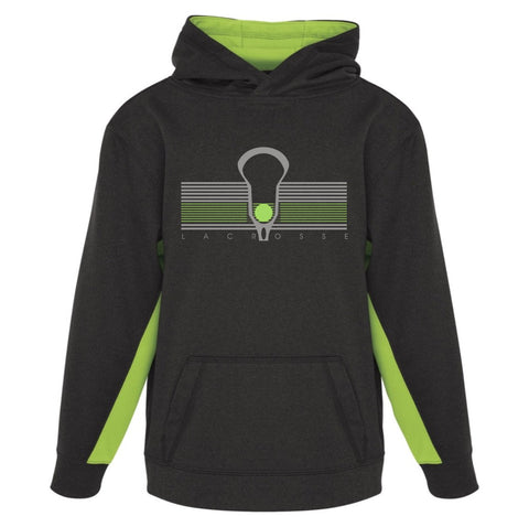 Racing Stripe - Color Block Hooded Sweatshirt - Youth