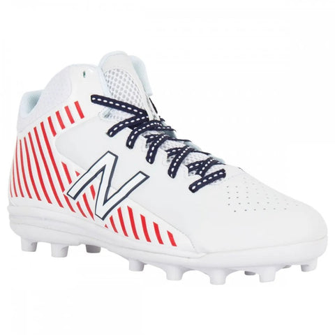 New Balance Rush Cleats Junior - White/Red/Navy