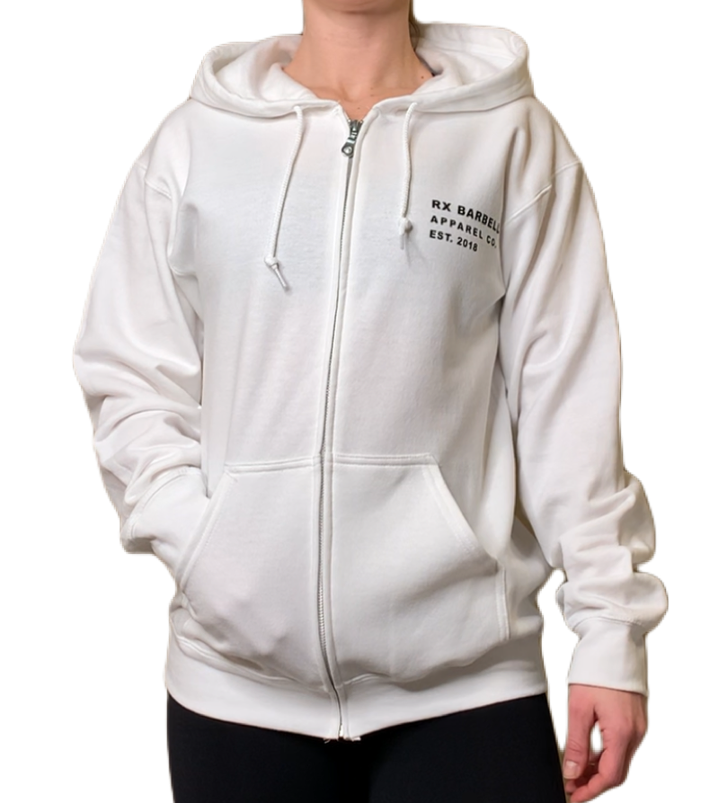 White Made Strong Zip Hoodie