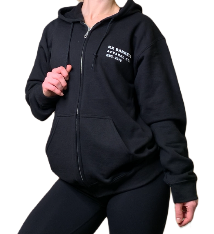 Black Made Strong Zip Hoodie