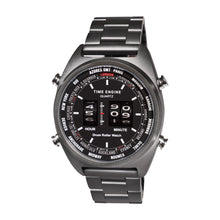 Load image into Gallery viewer, Time Engine Drum Watch - Black IP Case with Black IP Band